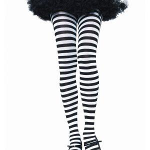 Black & White Striped Tights