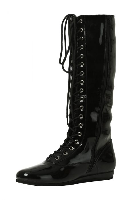 Black Wrestling Boots