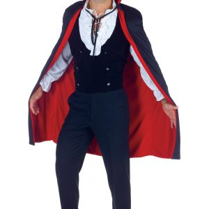 Black and Red High Collar Cape