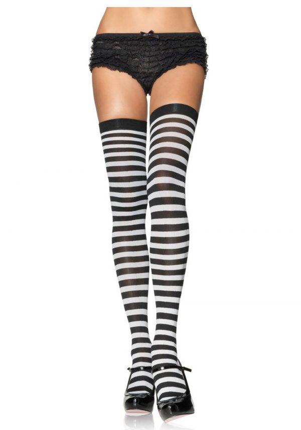 Black and White Nylon Stockings