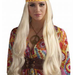 Blonde Hippie Chick Wig w/ Headband