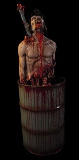 Blood Barrel Haunted House Prop