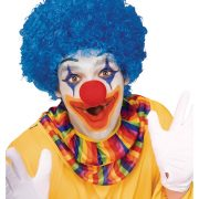 Blue Afro Clown Wig
