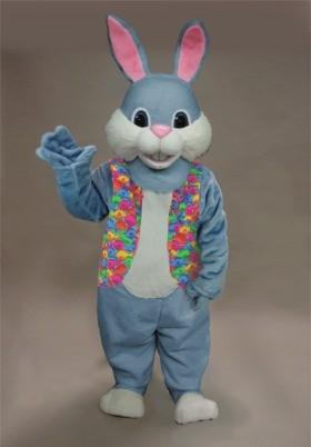 Blue Bunny Mascot Costume