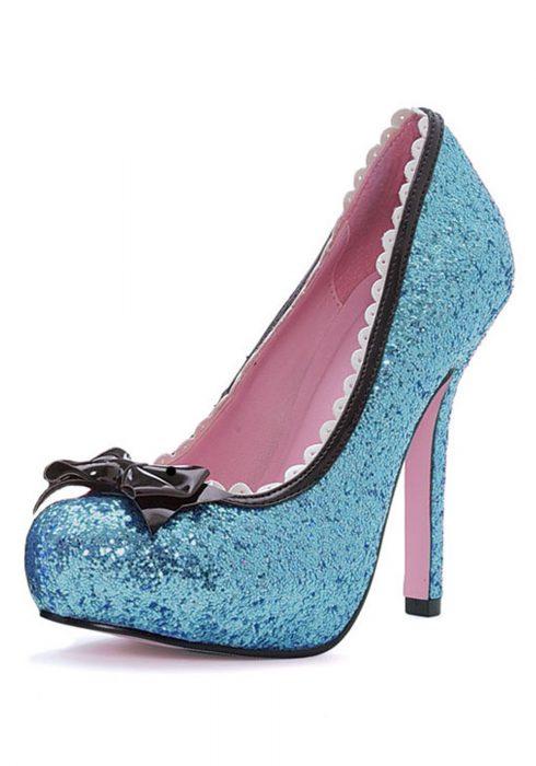 Blue Glitter High Heels