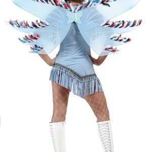 Blue Indian Fairy Wings