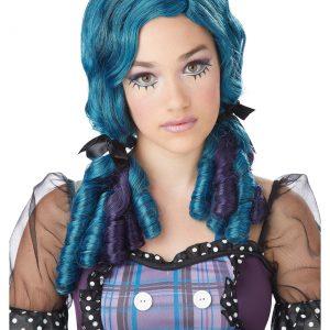 Blue / Purple Doll Curls Wig
