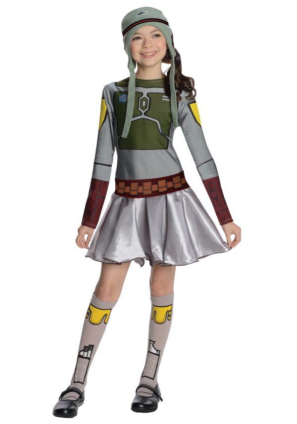 Boba Fett Girls Dress Costume