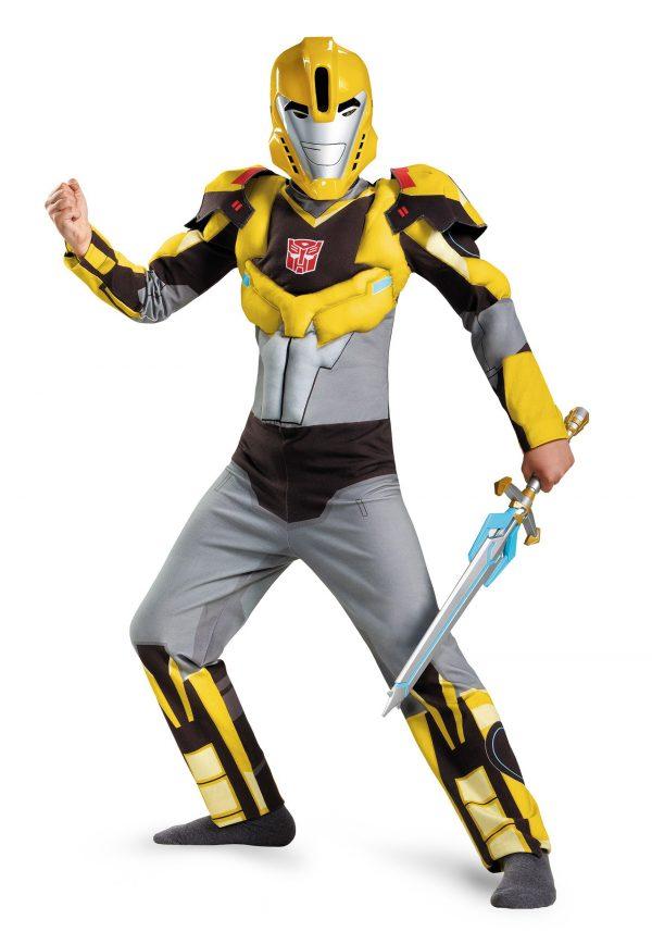 Boys Bumblebee Animated Classic Muscle Costume