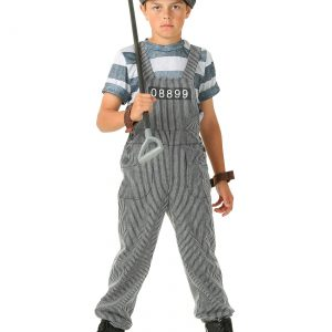 Boy's Chain Gang Prisoner Costume