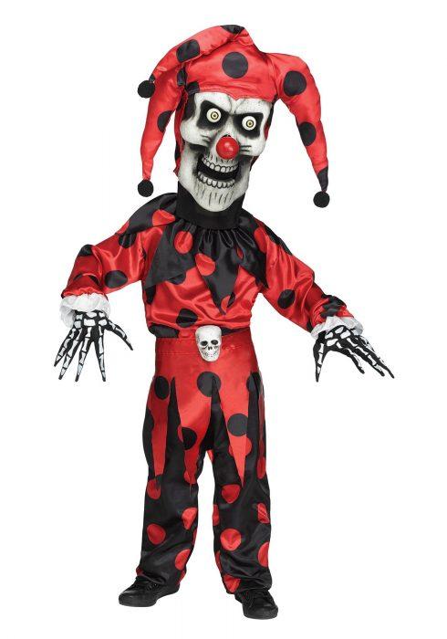 Boys Evil Bobble Head Jester Costume