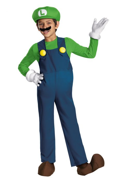 Boys Luigi Prestige Costume