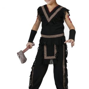 Boys Midnight Native American Warrior Costume
