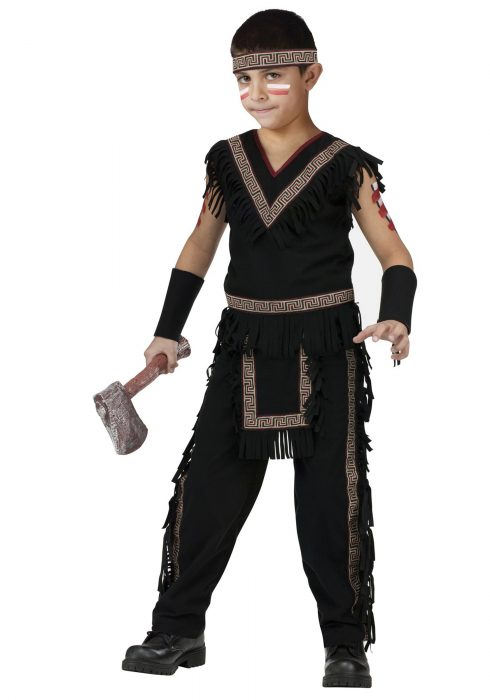Boys Midnight Native American Warrior Costume