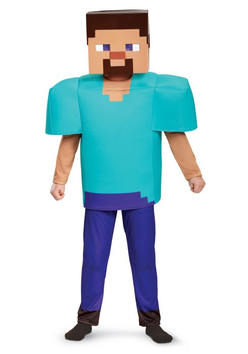 Boys Minecraft Steve Deluxe Costume