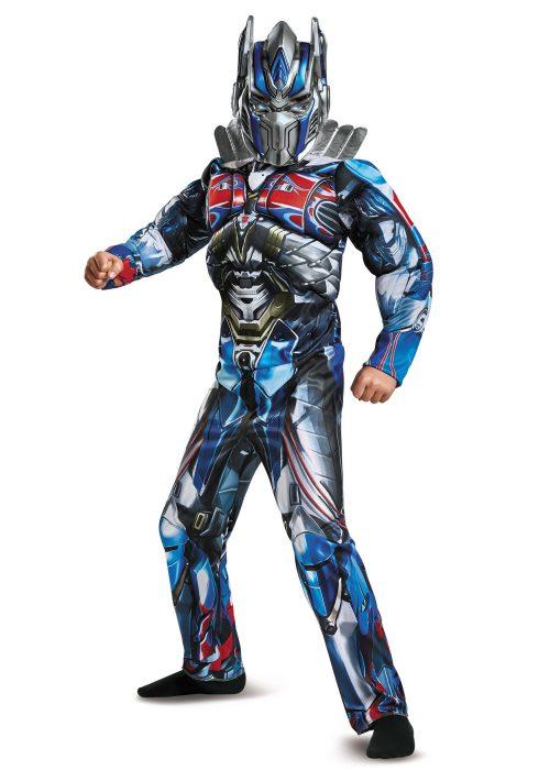 Boys Optimus Prime Muscle Costume