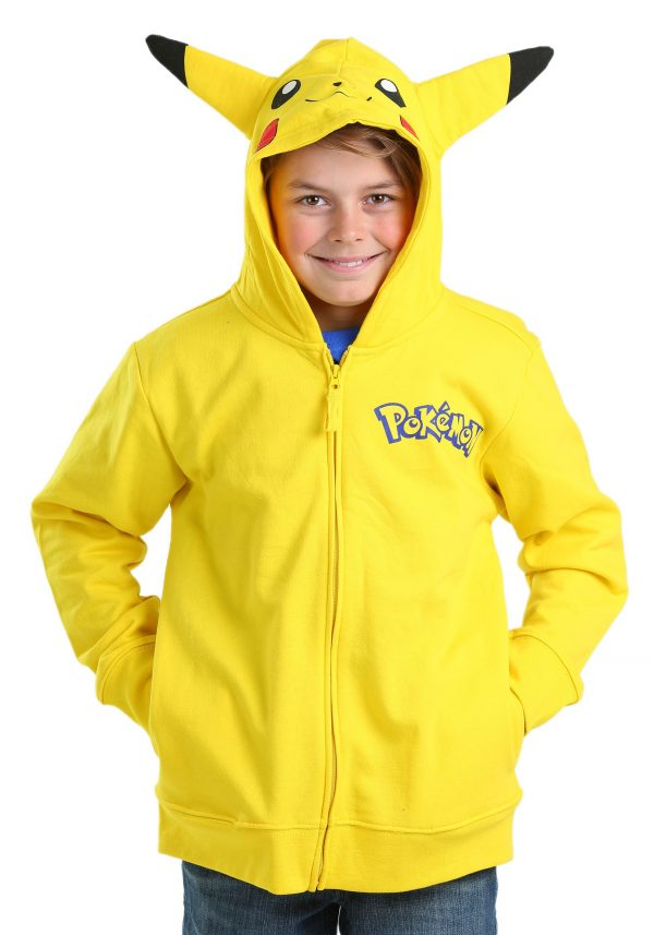 Boys Pokemon Pikachu Costume Hooded Sweatshirt