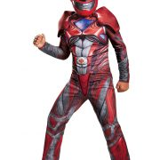 Boys Red Ranger Movie Classic Muscle Costume