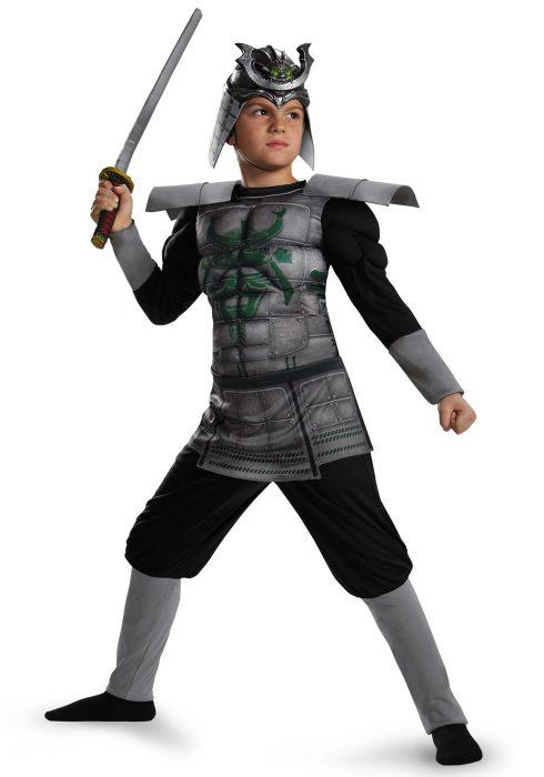 Boys Samurai Warrior Muscle Costume