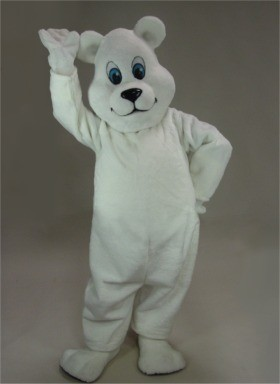 Breezy Polar Bear Mascot Costume