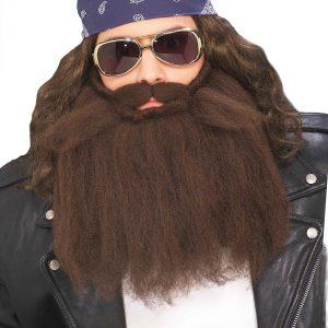 Brown Biker Beard & Mustache