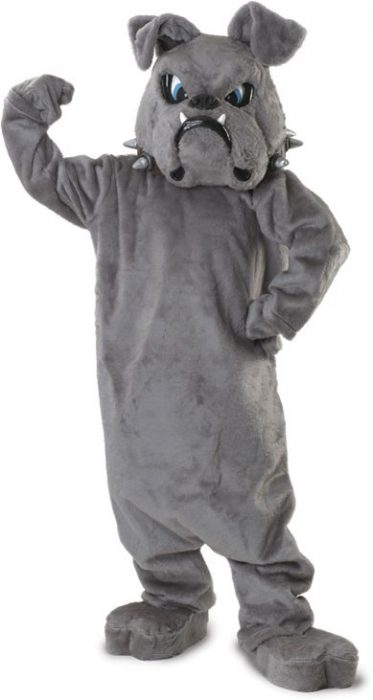 Bulldog Collared Mascot Costume