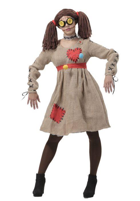 Burlap Voodoo Doll Women's Costume