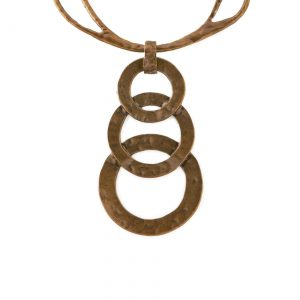 Burnished Gold-Tone 3 Hoop Collar Necklace