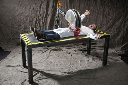 Buzz Saw Illusion Haunted House Prop
