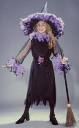 Child Black Feather Witch Costume