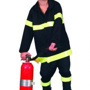 Child Black Fire Fighter Helmet