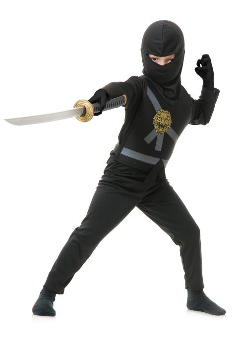 Child Black Ninja Master Costume