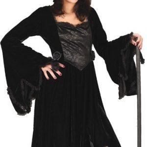 Child Black Velvet Witch Costume