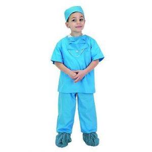 Child Blue Doctor Scrubs Costume