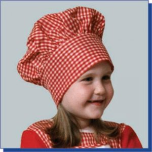 Child Chef Hat - Red Gingham