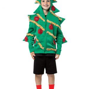 Child Christmas Tree Hooded Sweatshirt