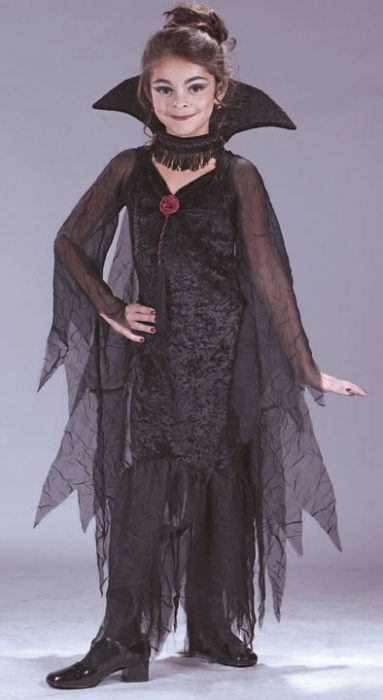 Child Daughter of Darkness Gothic Costume