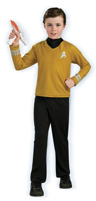 Child Deluxe Captain Kirk Costume - Gold