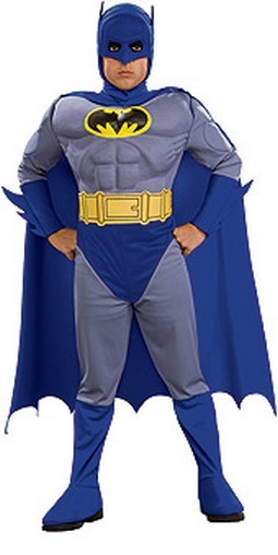 Child Deluxe Muscle Chest Batman Costume