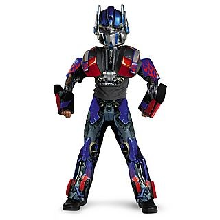 Child Deluxe Transformers 3-D Optimus Prime Costume