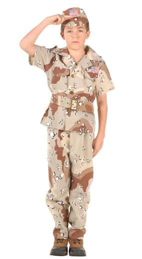 Child Desert Soldier Costume