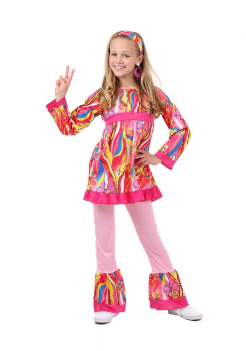 Child Disco Top and Bell Bottoms Costume