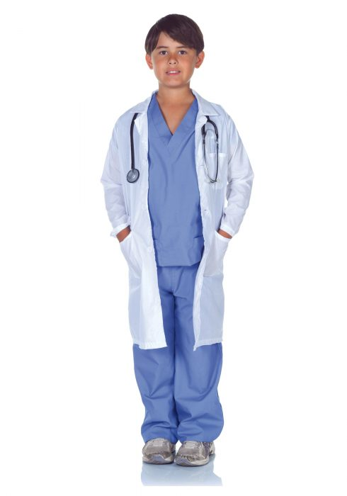 Child Doctor Scrubs with Lab Coat