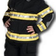 Child Fire Fighter Costume with Helmet- Black