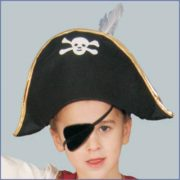 Child Foldable Pirate Hat