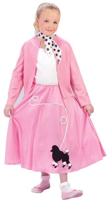 Child Grease Poodle Skirt Costume