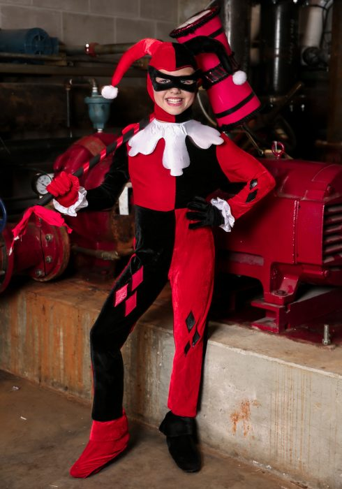 Child Harley Quinn Jumpsuit Costume