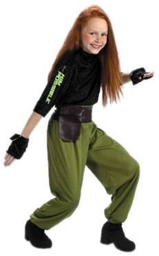 Child Kim Possible Agent Costume