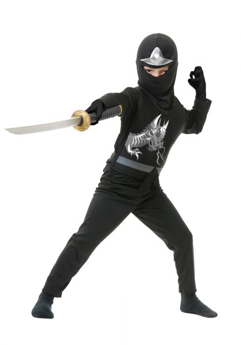 Child Ninja Avengers Series II Black Costume