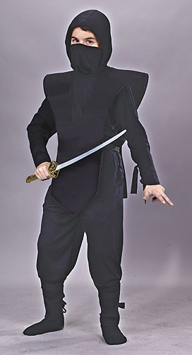 Child Ninja Complete Black Ninja Costume